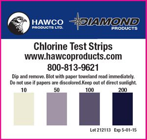 Chlorine test strips