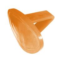 orange toilet bowl clip