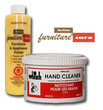 Lecton furniture polish and Whish hand cleaner