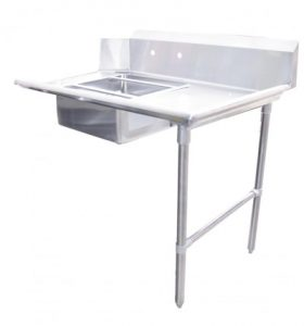Right side soiled stainless steel dish table