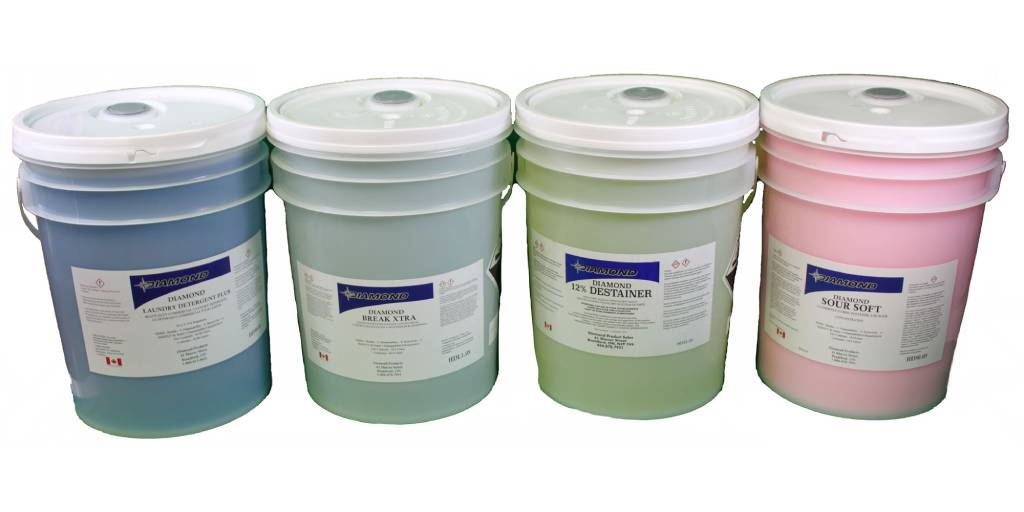 3 main industrial laundry chemicals