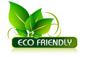 eco friendly logo green leaves