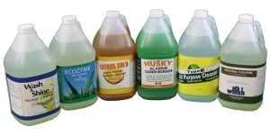 industrial cleaners in jugs