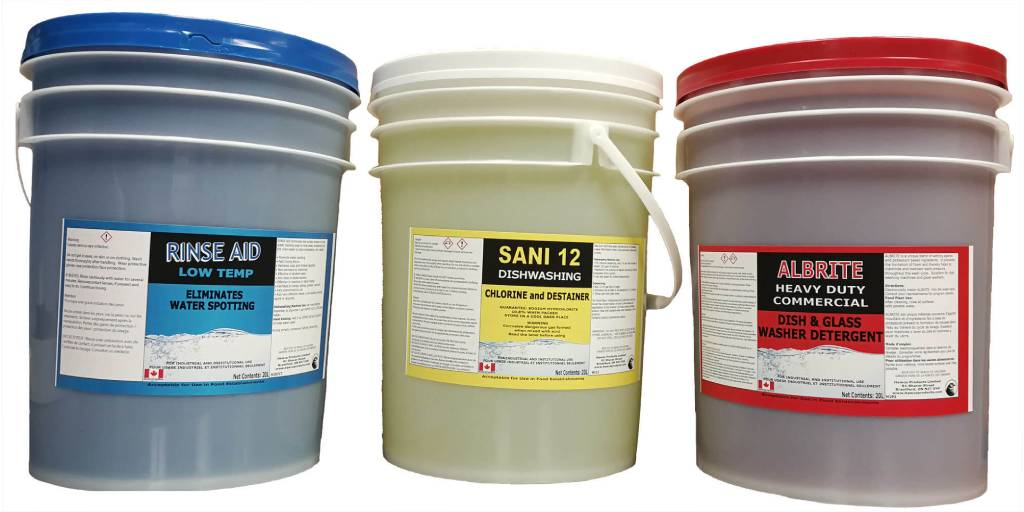 3 main Hawco warewash chemicals