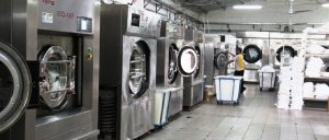 industrial washers in laundry room